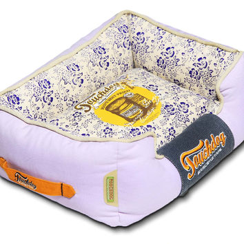 Touchdog Floral-Galore Vintage printed Ultra-Plush Rectangular Designer Dog Bed: Medium