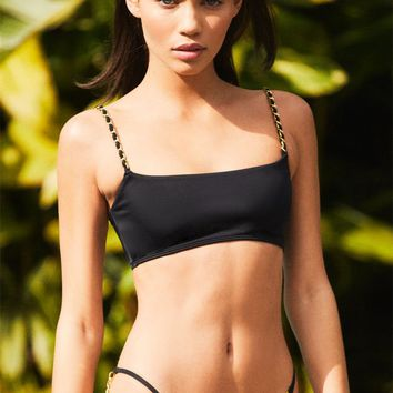 Kendall and Kylie Christie Chain Cropped Bikini Top | PacSun