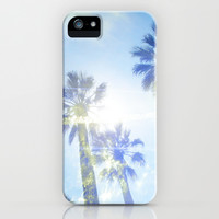 Faded Palms iPhone & iPod Case by Suzanne Kurilla
