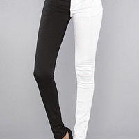 Tripp NYC The Split Leg Pant in Black and White : Karmaloop.com - Global Concrete Culture