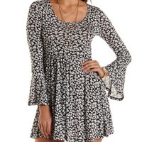 Floral Bell Sleeve Babydoll Dress by Charlotte Russe