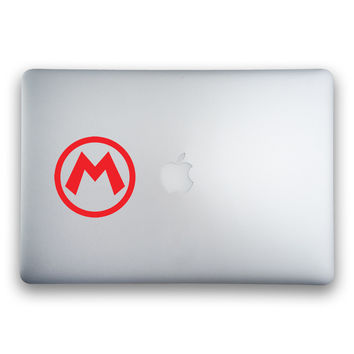Mario Logo Sticker for MacBooks and Apple Devices