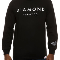 The Stone Cut LS Tee in Black