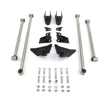 Stainless Steel Heavy Duty Triangulated Full Size Universal 4 Link Kit W Shock Hardware