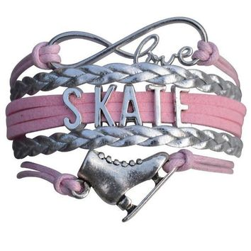 Girls Figure Skating Infinity Bracelet