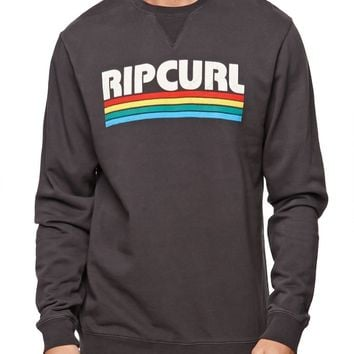 Rip Curl The Peter Crew Fleece - Mens Hoodie - Black