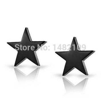 New Rock Pendientes Jewelry Brincos Men's Stainless Steel Stud Earrings Jewelry Star