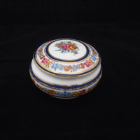 Vintage Bone China Trinket Box, The Regal Bone China Trinket Box, China Powder Jar, Regal Jewellery Trinket Box