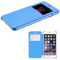 Book-Style View-Flip with Frosted Tray iPhone 6 Plus Case - Sky Blue