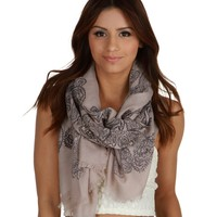 Sale-black Paisley Light Layer Scarf