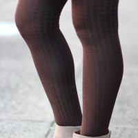 Spotted Tights {Brown}