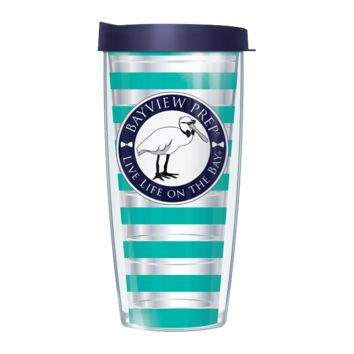 Teal and Navy Tumbler Cup