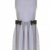 LOVE Grey With Black Bow Dress - Love