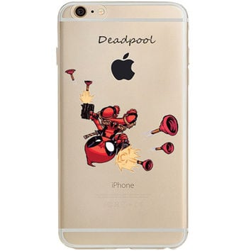 "Deadpool Jelly Clear Case for Apple iPhone 6/6s PLUS (5.5"")"