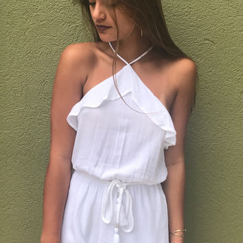 A Smile On Your Face Romper - White