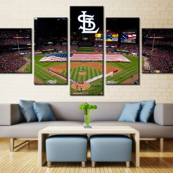 5 Panel Canvas For ManCave St. Louis Cardinals MLB
