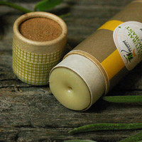 Natural Deodorant / Organic, Herbal / Beeswax / Meadow Blend cabin woodland forest rustic mustard theteam