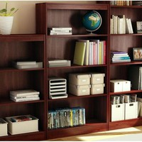 Four Shelf Eco-Friendly Bookcase in Royal Cherry Finish