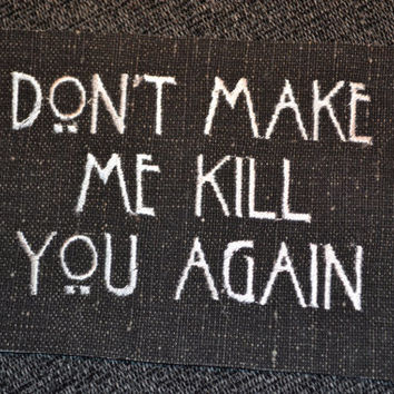 American horror story embroidered patch