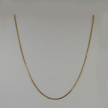 Box Link Chain 24 Inches 1.2mm 4.7 Grams in 10K Yellow Gold