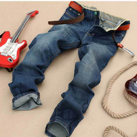 Men's Fashion Men Pants Korean Slim Stylish Denim Fashion Jeans [6528423363]