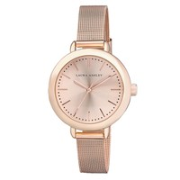 Laura Ashley Rose Gold Mesh Watch | Overstock.com Shopping - The Best Deals on More Brands Women's Watches