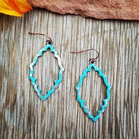 Worn Copper & Turquoise Earrings