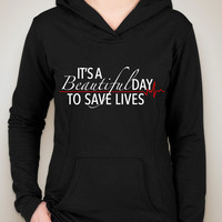 "Grey's Anatomy ""It's A Beautiful Day To Save Lives"" Unisex Adult Hoodie Sweatshirt"