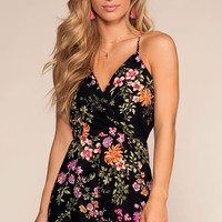 Evening Garden Floral Romper - Black