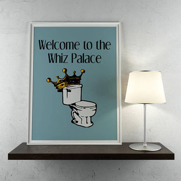 Welcome to the Whiz Palace, print, bathroom decor, funny bathroom, parks and rec, parks and recreations, leslie knope, bathroom print, whiz