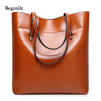 New Begutest Brand Designer Women Solid Luxury Fashion Shoulder Bags Female Vintage Handbag Ladies Bucket Capacity bag