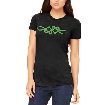 DCCKU3R Irish Celtic Infinite Love Knot Juniors Soft T Shirt