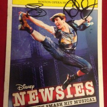 Newsies 1St National Tour - Signed Playbill Boston