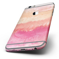 The Pinkish 432 Absorbed Watercolor Texture Six-Piece Skin Kit for the iPhone 6/6s or 6/6s Plus