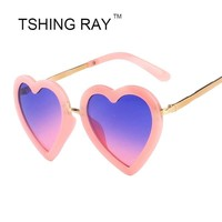Children's sunglasses Heart Shape Cute Mirror Glasses 100% UV400 Kid