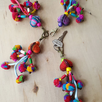 Pompom Sun Keychain. AVAILABLE IN OTHER COLORS