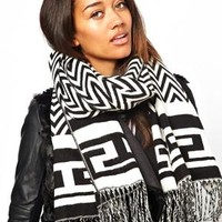 River Island Chevron Blanket Scarf at asos.com