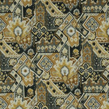 Robert Allen Fabric 221424 Aztec Wind Graphite