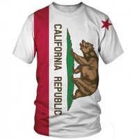 California Republic T-Shirt | All Over Print Shirt | EDM Rave Shirt