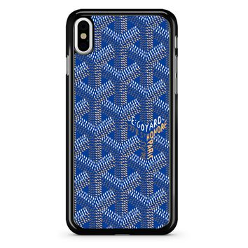 Goyard Blue iPhone X Case