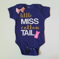 Little Miss Cotton Tail - Easter - Mia Grace Designs -  Body Suit - Onesuit - Ruffles with Love - Baby Clothing - RWL Kids