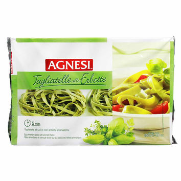 Italian Egg Tagliatelle Pasta with Herbs by Agnesi 8.8 oz