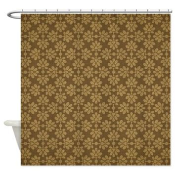 Brown Flowers Pattern Shower Curtain> Brown Flowers Pattern> Buy A Gift