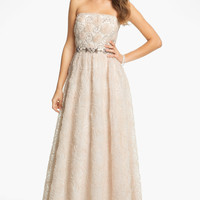 Adrianna Papell Strapless Soutache Gown | Nordstrom