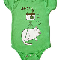Infant Baby Onesuit - Camera Cat Screen Printed Onesuit - Vintage Camera Selfie Onesuit Baby Clothing