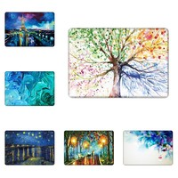 """Anti-Slipping Oil Painting Design Laptop Case Cover for Mac A1370 A1465 Macbook Air 11"""" Inch Keyboard Cover Screen Protection"""