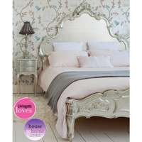 Sylvia Silver Luxury Bed|Beds|Beds  Mattresses|French Bedroom Company