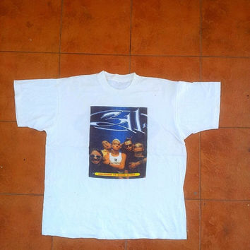 ON SALE Vintage 311 Concert Tour 1990's T shirt Punk Three Eleven Enlarged to Show Detail Xl