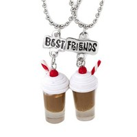 Best Friends Milkshakes Pendant Necklaces  | Claire's