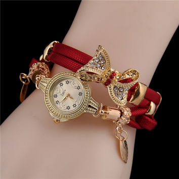 Gift Awesome Shiny Great Deal New Arrival Stylish Ladies Watch Butterfly Hot Sale Vintage Bracelet [6586246343]